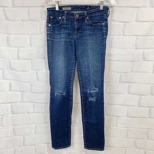 Ag Adriano Goldschmied Distressed Skinny Jeans 26R